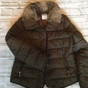 Brown Old Navy Puffer Jacket
